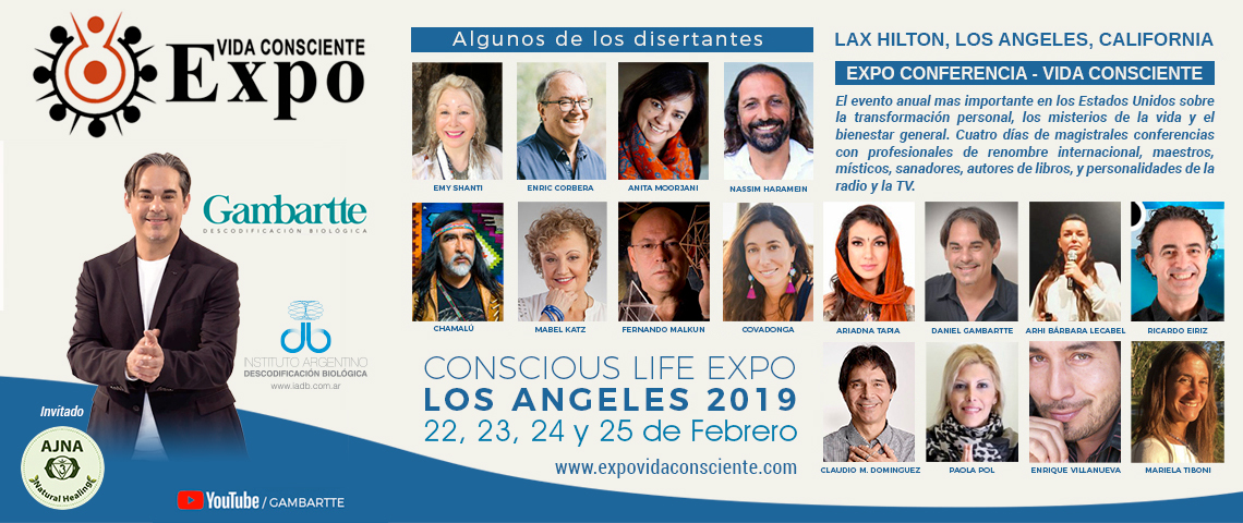 Expo Vida Consciente 2019 en Los Angeles, California, USA con Daniel Gambartte